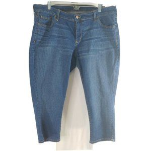 Old Navy Women Jeans 16 The Flirt Denim Capri Pant